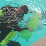 diver bringing up evidence